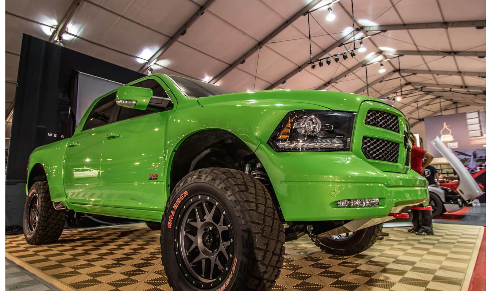 Lime-Green-Minotaur-Dodge